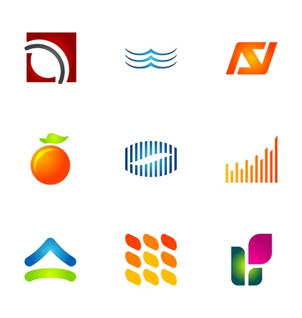 logotype: Logo design elements set 45