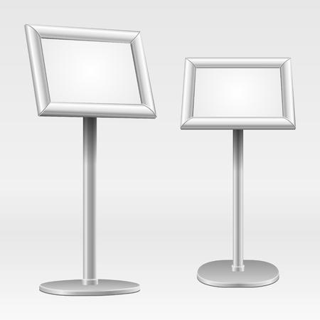 holder: Floor standing poster holder. Vector illustration Eps 10. Illustration