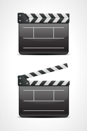 Film clap board cinema vector illustration. Eps 10.