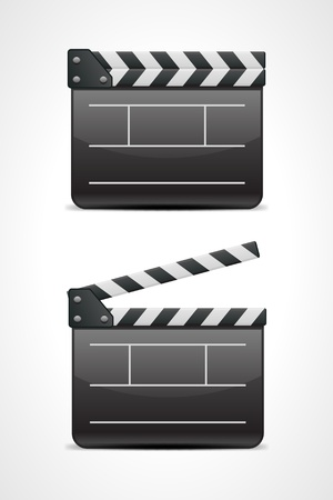 movie director: Film clap board cinema vector illustration. Eps 10.