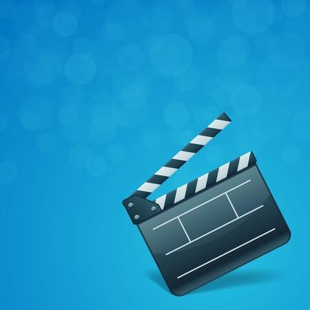 clap board: Film clap board cinema vector background. Eps 10. Illustration