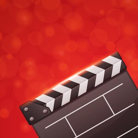 Film clap Conseil cinéma vecteur arrière-plan. EPS 10.