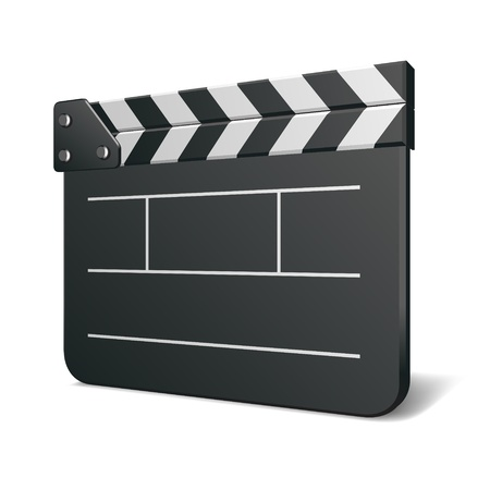 Film clap bord illustration vectorielle cinéma. Eps 10.