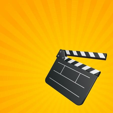 board of director: Film clap board cinema vector background. Eps 10. Illustration