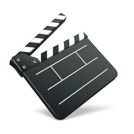 clap board: Ilustraci�n de vector cine la pel�cula clap placa. EPS 10. Vectores