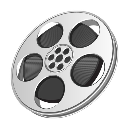 Video film tape cinema vector illustration. Eps 10. Vector