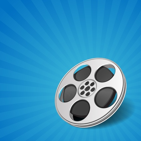 directors: Video film tape cinema vector background. Eps 10.