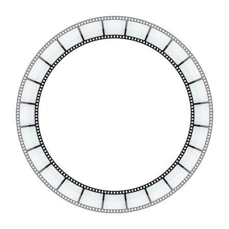 esporre: Film rotonda nastro sfondo vettoriale. Eps 10. Vettoriali