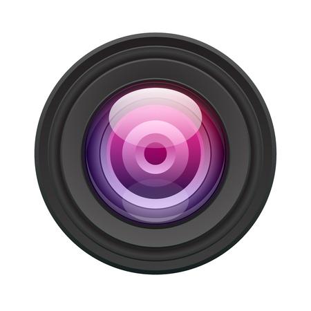 Illustration vecteur caméra lentille. Eps 10. Vecteurs