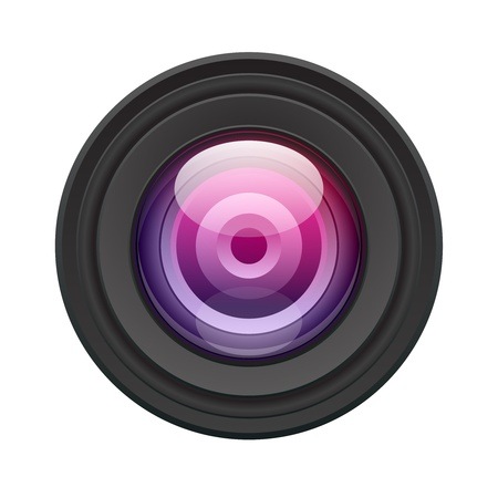 sehkraft: Kamera-Objektiv-Vektor-Illustration. EPS-10.