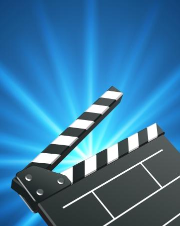 Film clap board cinema vector background. Eps 10. Stock Vector - 10130320