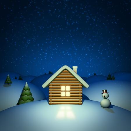 Christmas night vector background photo