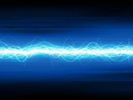wave sound: Waveform Stock Photo