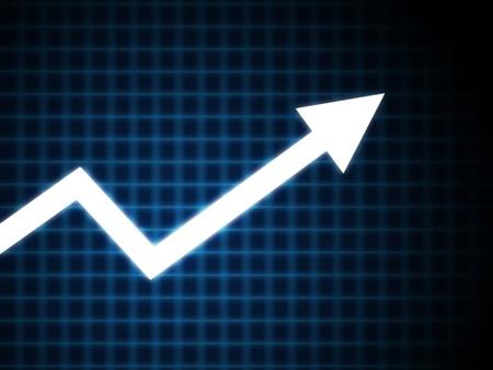 incentive: Graph arrow on blue