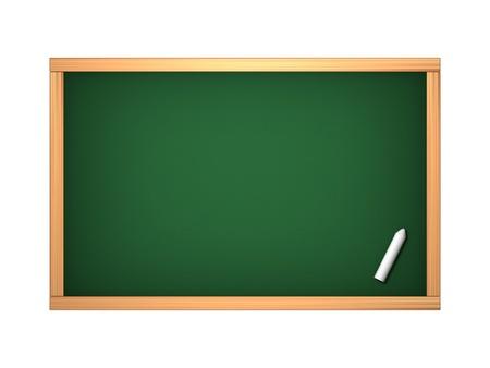 blank slate: Blackboard in the classroom isolated on white
