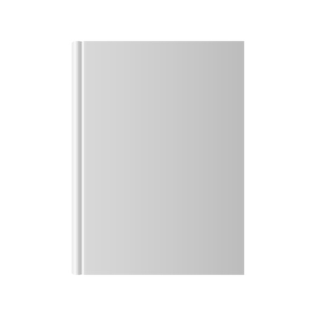 Blank book isolated on a white photo
