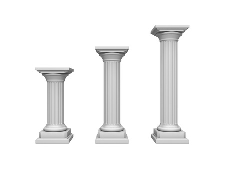 pillars: Architecture column isolated on a white