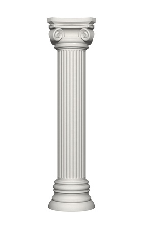 roman pillar: Architecture column isolated on a white