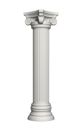 Architektur Säule isoliert auf einem weißen