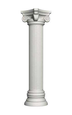 columnas romanas: Columna de arquitectura aislada sobre un fondo blanco