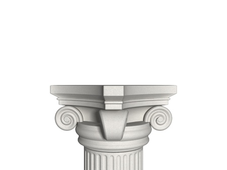 Architecture column isolated on a white photo