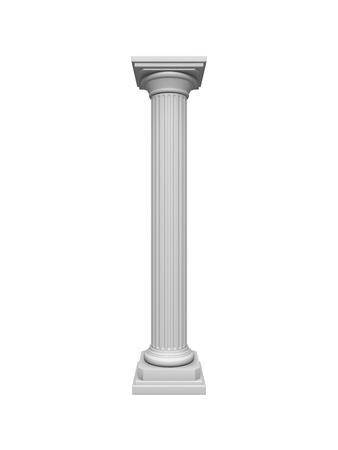 Architektur Säule isoliert auf einem weißen Standard-Bild