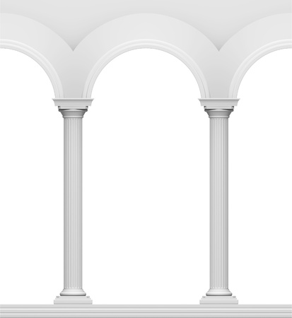 antic: Arc with column isolated on a white