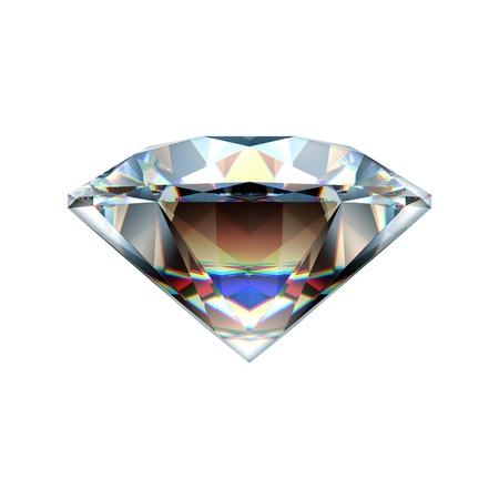 prisma: Diamante aislado en blanco