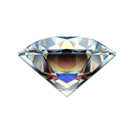 Diamond isolated on a white photo