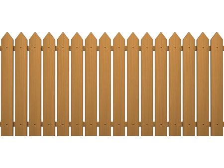 cerca blanca: Valla de madera aislada sobre un fondo blanco