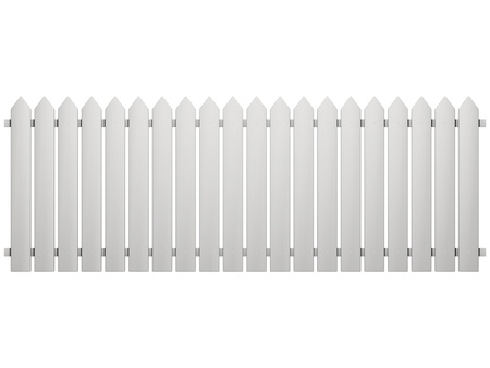 enclosures: Fence isolated on a white