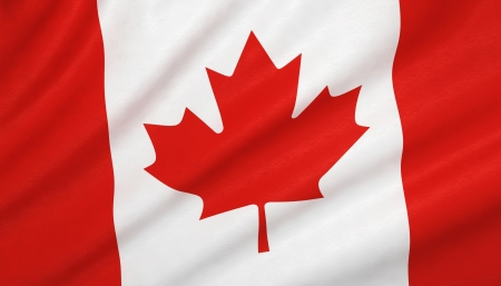 canada: Canada flag Stock Photo