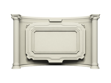 Antique wall with frame photo