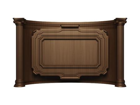 carved: Wood frame with column
