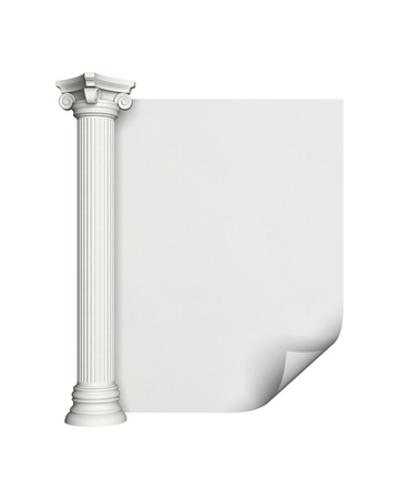 Architecture column with blank paper Stock Photo - 10161927