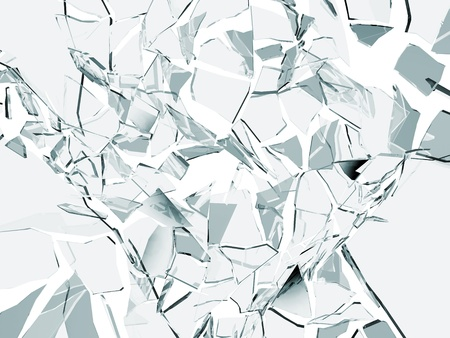 shattered glass: broken glass