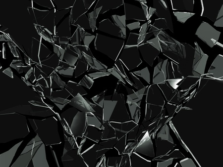safety glasses: Broken glass background