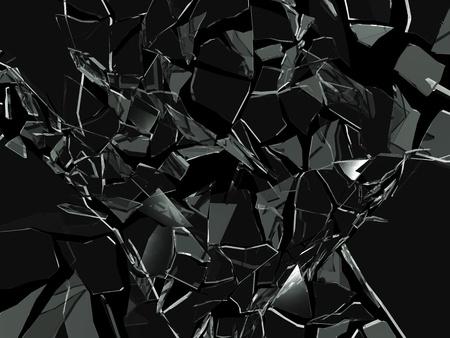 in disrepair: Fondo di vetro rotto