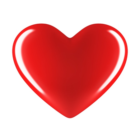 valentine s day: red heart isolated on white Stock Photo