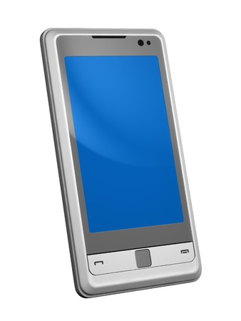 mobile telephone isolated on white photo