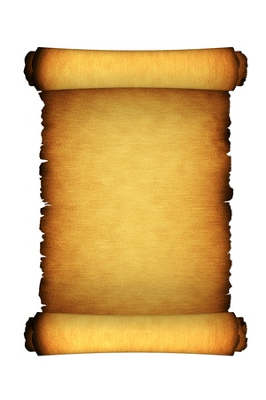 papyrus: Paper Antique Scroll Isolated On White Stock Photo