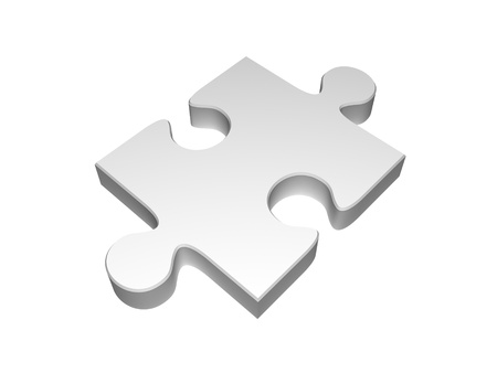 domination: puzzle piece isolated on white Stock Photo