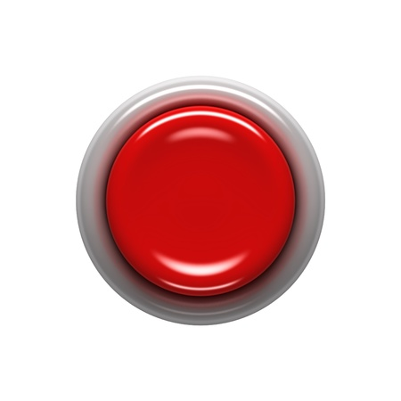 start up: Red button isolated on white