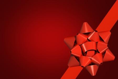 cajas navide�as: Cinta roja con el fondo de regalo arco