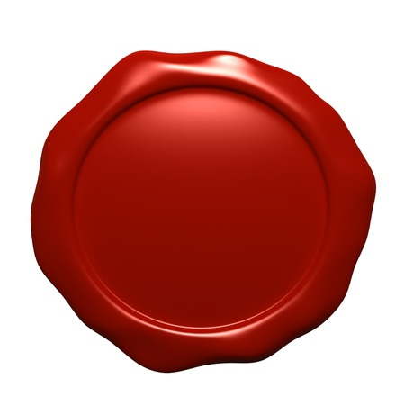 approval icon: Wax seal isolated on white