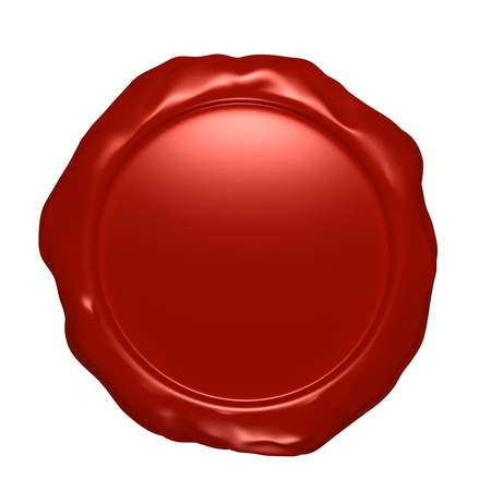 Wax seal isolated on white photo
