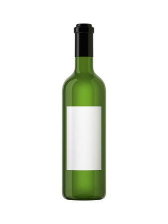 closed club: Wine bottle isolated on white
