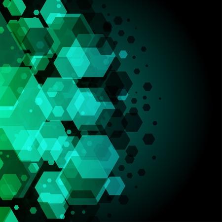 Abstract hexagon vector background Stock Vector - 10584001