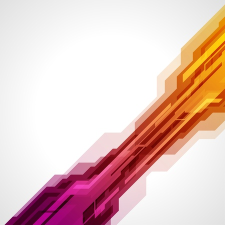 technology banner: Abstract retro technology lines vector background