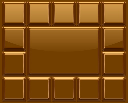 barra de chocolate: Barra de chocolate de fondo vector